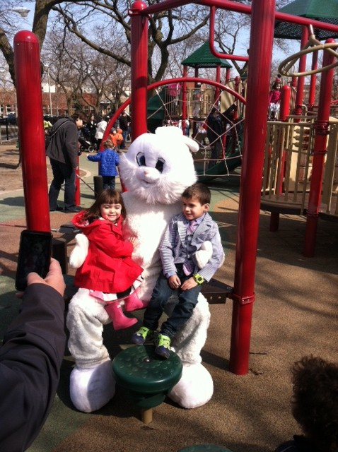 Members of Smith Park take advantage of the 2013 Easter Egg Hunt sponsored by the Chicago Park District and the Smith Park Advisory Council.