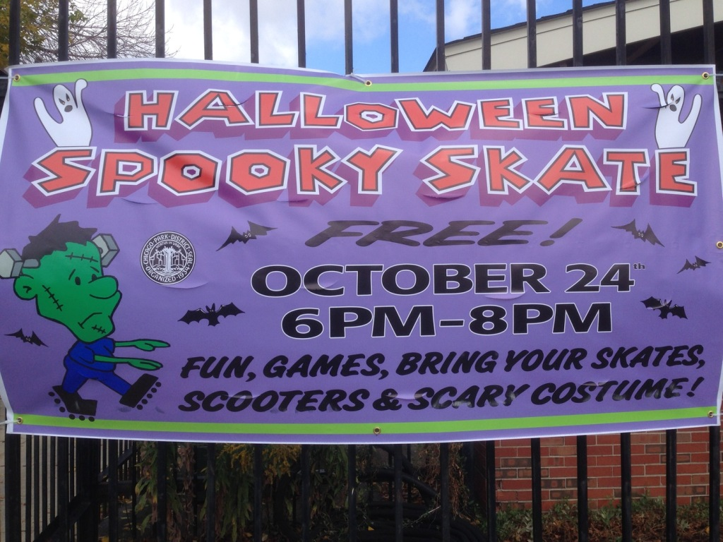 Smith Park will celebrate Halloween with a skating party at Smith Park on October 24th from 6 -8 p.m