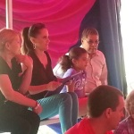 Alderman Maldonado and his family enjoy the first day of the Circus in the park