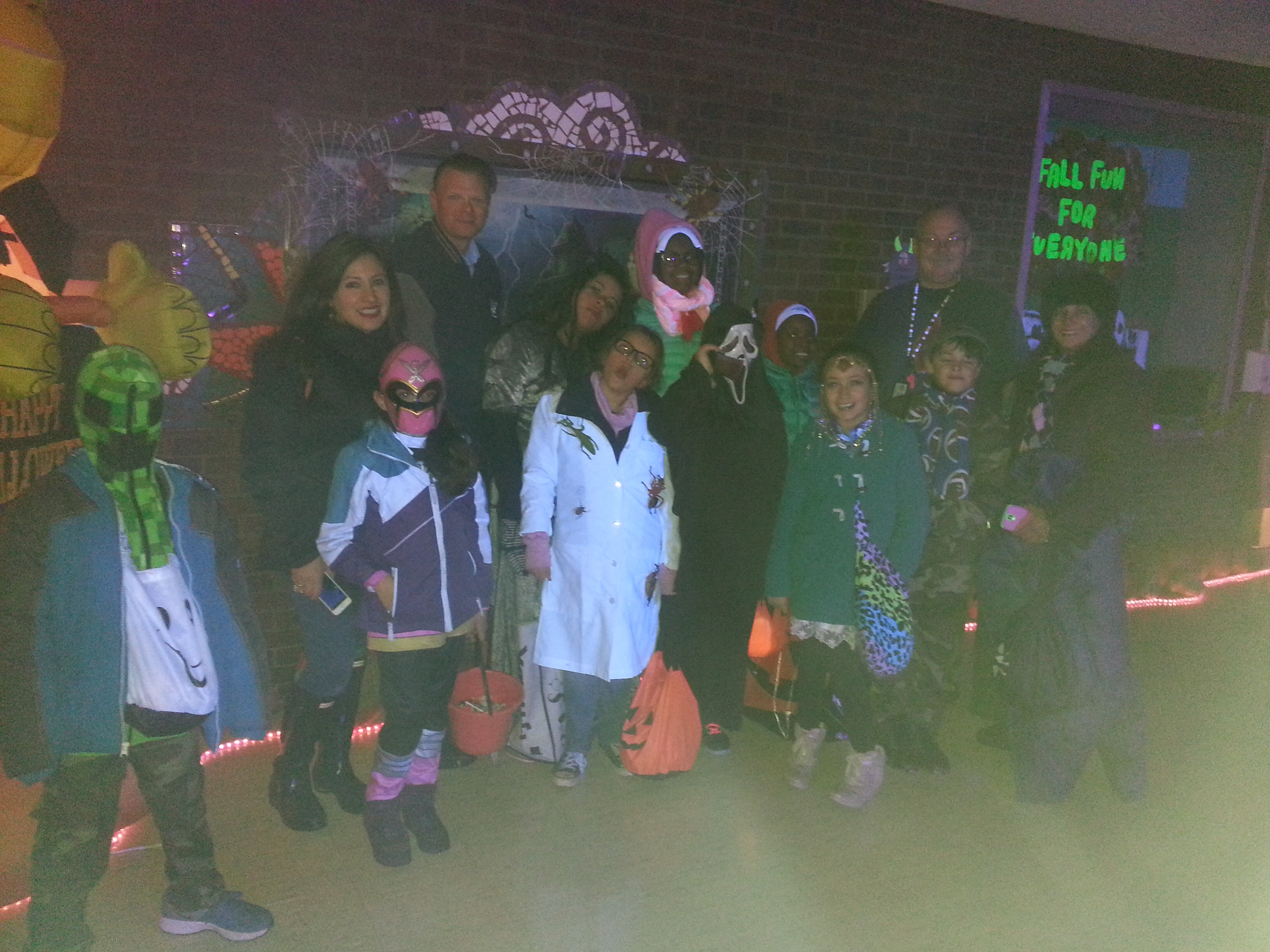 residents of the community stop by Smith Park for Halloween