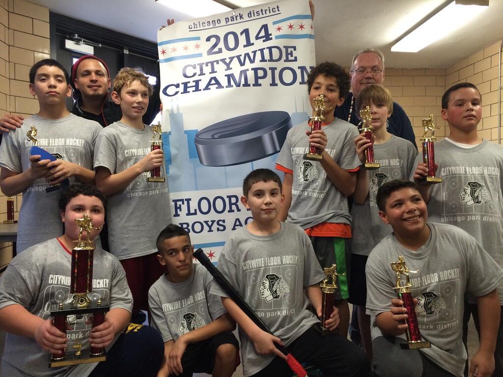 Smith Park 2014 Floor Hockey Champions