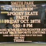 Smith Park and the Smith Park Advisory Council will host the 2016 Spooky Skating Party on Friday, October 28, 2016.