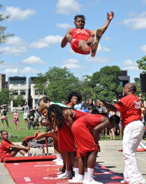 Smith Park Chicago host the Jesse White Tumblers